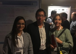 Dayanna and Giovanni met Prof. Mercé Izquierdo (Uni. Autonoma de Barcelona)