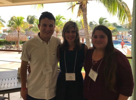 Chapter members Juan José Montero H. and Verónica Suarez R. (Chapter President) with Dr. Ingrid Montes (ACS Board of Directors) ABCChem