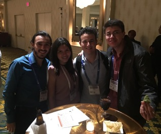 Jonathan, Ariel, Juan José, and Joshua at the International Activities Committee reception